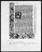 Missale mit Kalendarium aus Kloster Kaisheim — Buchseite mit historisierter Initiale und Bordüre, Folio 27verso — Initiale E, darin das Jüngste Gericht, Folio 27verso