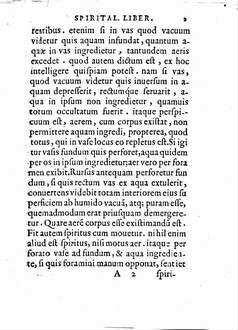 Heronis Alexandrini Spiritalivm Liber