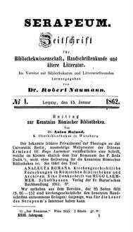 Beitrag zur Kenntniss Römischer Bibliotheken