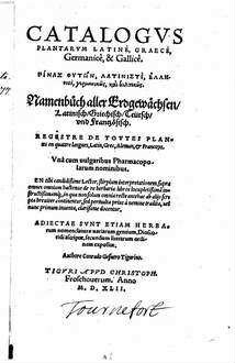 Catalogus plantarum latine, graece, germanice et gallice