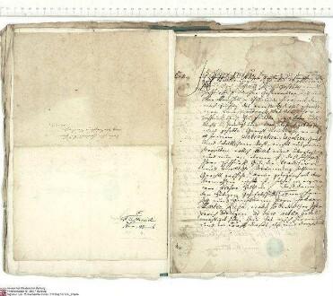 Es wird bekundet, dass der Geheimrat und Obermarschall, Freiherr Heinrich von der Tann, an Adalbert [von Schleifras], Abt von Fulda, das Gericht N...