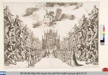 Bühnenbild zu 'La monarchia latina trionfante, 6. Bild: Palast der Astraea